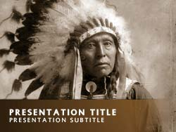 Royalty free native american powerpoint template in orange native american title master slide design toneelgroepblik Images