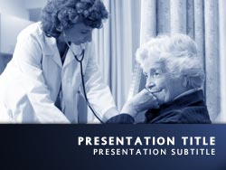 Royalty free care powerpoint template in blue care title master slide design toneelgroepblik Image collections