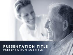 Royalty free caregiver powerpoint template in blue caregiver title master slide design toneelgroepblik Gallery