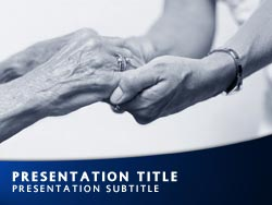 Royalty free nursing home powerpoint template in blue nursing home title master slide design toneelgroepblik Choice Image