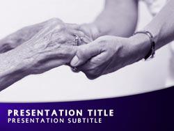 Royalty free nursing home powerpoint template in purple nursing home title master slide design toneelgroepblik Gallery