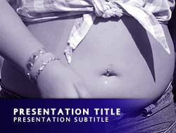 childhood obesity powerpoint templates - royalty free teen obesity powerpoint template in purple