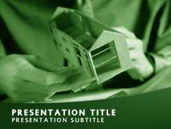 Building A Home Title Master slide design