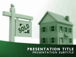 Sold Home Title Master slide design