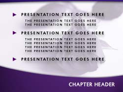 royalty free funeral powerpoint template in purple, Powerpoint templates