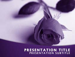 royalty free funeral powerpoint template in purple. Black Bedroom Furniture Sets. Home Design Ideas