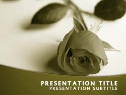 royalty free funeral powerpoint template in yellow