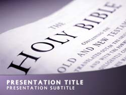 Holy Bible Title Master slide design