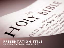 royalty free holy bible powerpoint template in red, Modern powerpoint