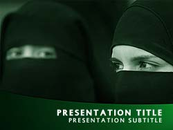 royalty free islam powerpoint template in green, Modern powerpoint