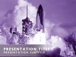 Royalty Free Space Travel Powerpoint Template In Purple