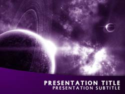 Royalty free universe powerpoint template in purple universe title master slide design toneelgroepblik Image collections