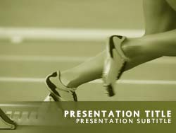 Track and Field Athletics Title Master slide design