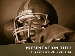 Royalty free football quarterback powerpoint template in orange football quarterback title master slide design toneelgroepblik Choice Image