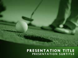 Royalty free perfect golf putt powerpoint template in green perfect golf putt title master slide design maxwellsz