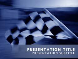 Chequered Flag Title Master slide design