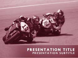 Royalty free motorcycle race powerpoint template in red motorcycle race title master slide design toneelgroepblik Image collections