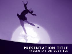 royalty free ice skater powerpoint template in purple