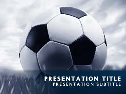 royalty free soccer powerpoint template in blue, Powerpoint templates