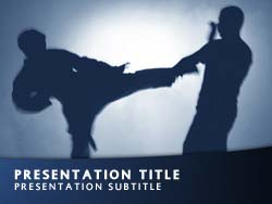 Royalty free martial arts powerpoint template in blue martial arts title master slide design toneelgroepblik Gallery