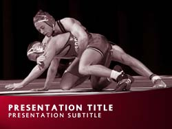 Wrestling Title Master slide design