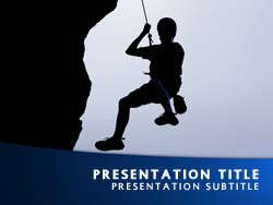 Royalty free rock climbing powerpoint template in blue rock climbing title master slide design toneelgroepblik Image collections