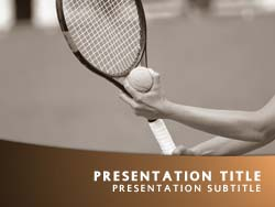 Tennis Title Master slide design