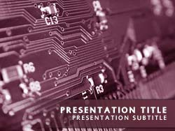 Printed Circuit Board Title Master slide design