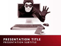 Cyber Crime Title Master slide design