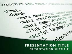 HTML Title Master slide design