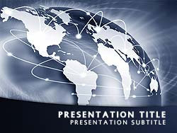 Royalty free telecommunications powerpoint template in blue telecommunications title master slide design toneelgroepblik Images