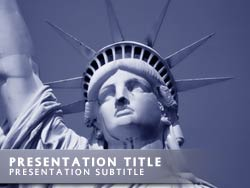 Statue of Liberty Title Master slide design