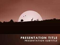 Royalty free africa safari powerpoint template in orange africa safari title master slide design toneelgroepblik Gallery