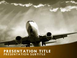Royalty free air travel powerpoint template in yellow air travel title master slide design toneelgroepblik Choice Image