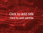 The Musical Notes video background for PowerPoint