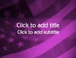 The US Flag video background for PowerPoint