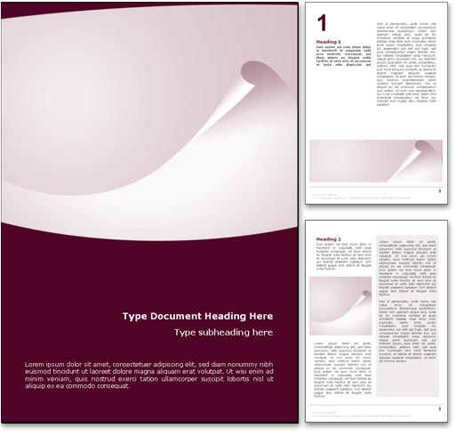 Captivating Abstract Curl Word Template Document  Free Templates For Word Documents