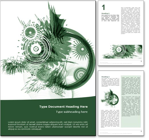 Design Microsoft Word Template Abstract Art Word Template