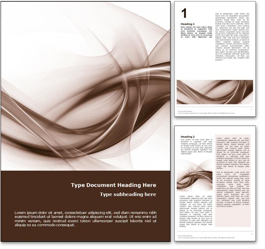 royalty free abstract curves microsoft word template in orange