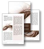 Abstract Curves Word Template