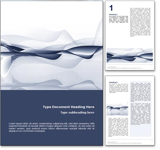 Royalty free abstract ocean microsoft word template in blue for Microsoft word graphic design