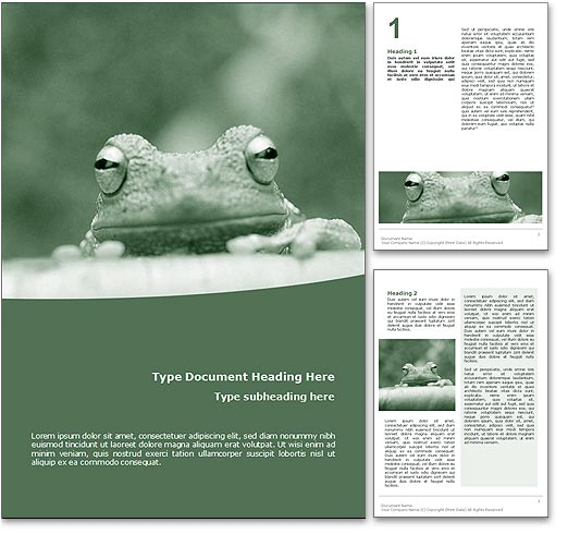 Frog word template document