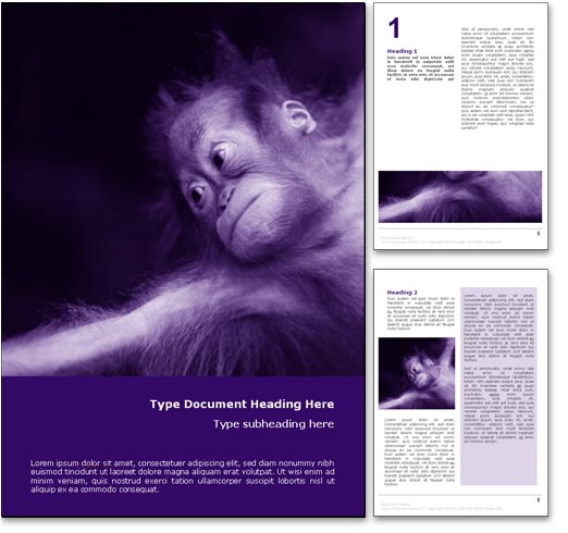 Monkey Business word template document