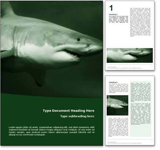 Shark word template document