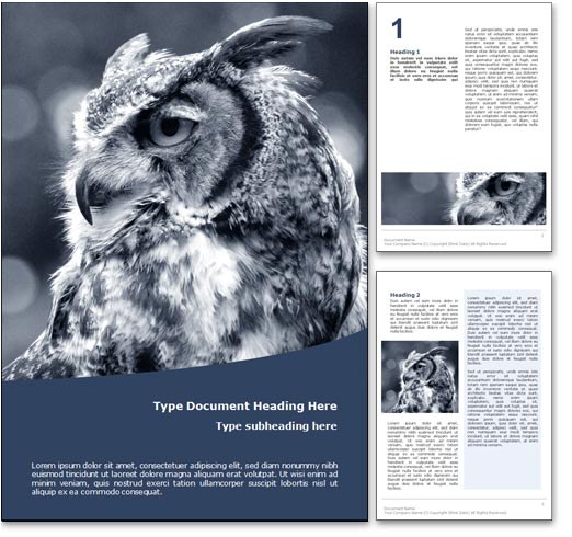 Owl word template document