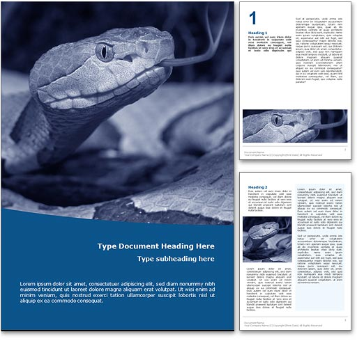 Snake word template document