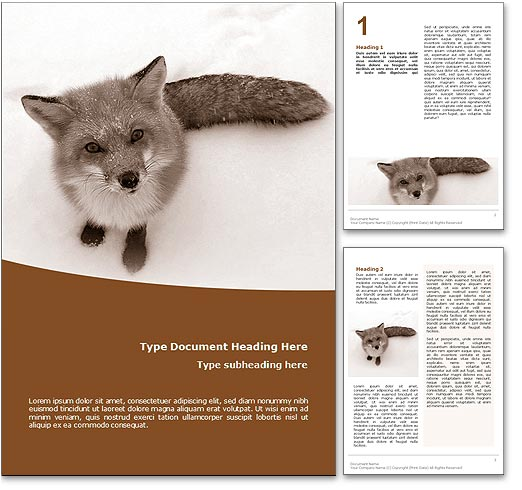 Fox word template document