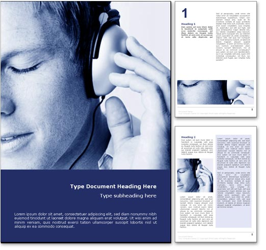 Listening to Music word template document