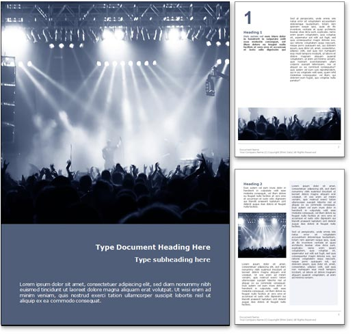 Concert word template document