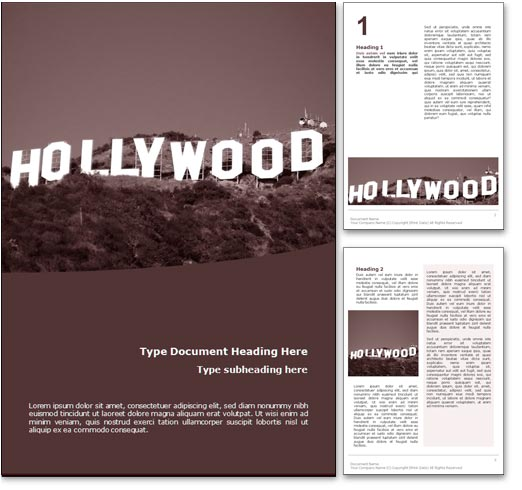 Hollywood word template document